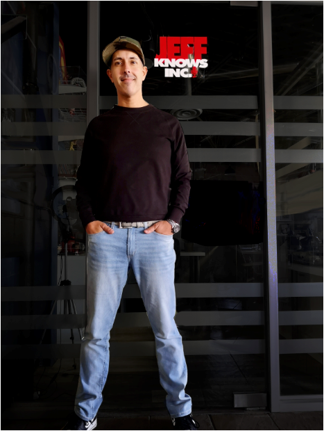 Jeff Lopes In front of studio