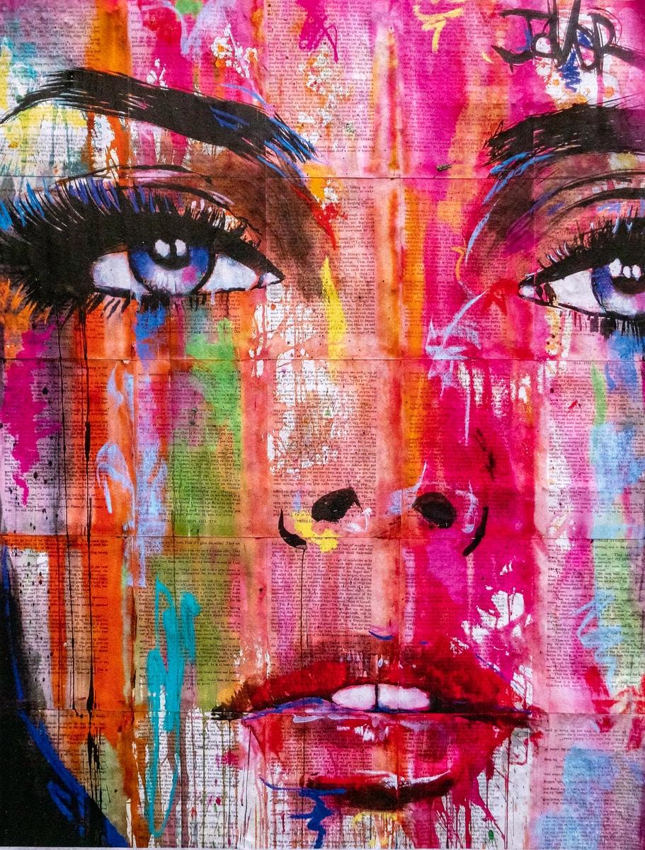 woman's face graffiti